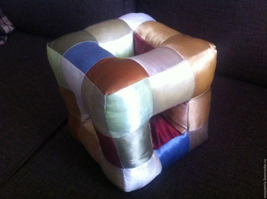Текстиль, ковры ручной работы. Ярмарка Мастеров - ручная работа. Купить Подушка-кубик. Handmade. Комбинированный, хлопок 100%