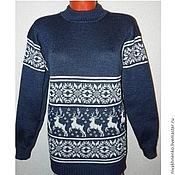 Одежда handmade. Livemaster - original item Sweater with reindeer and Norwegian ornament knitted. Handmade.