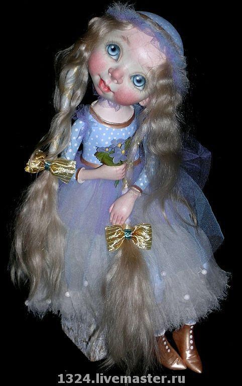 """Коллекционные куклы ручной работы. Ярмарка Мастеров - ручная работа. Купить кукла """"Незабудка"""". Handmade. Кукла"""