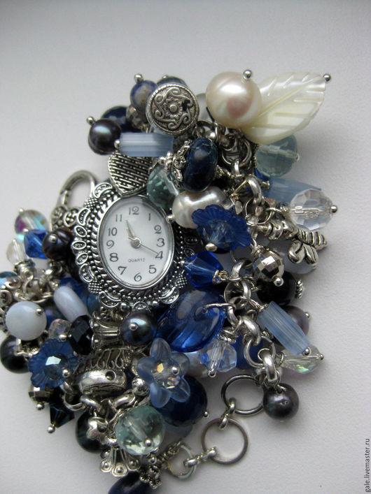 Часы ручной работы. Ярмарка Мастеров - ручная работа. Купить Часы Зимний сад. Handmade. Синий, часы с браслетом, содалит