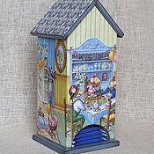 """Для дома и интерьера ручной работы. Ярмарка Мастеров - ручная работа Чайный домик """"С днем рождения, Пепита !"""". Handmade."""