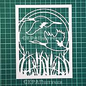 Материалы для творчества ручной работы. Ярмарка Мастеров - ручная работа Вырубка для скрапбукинга Рамка растительная 8. Handmade.