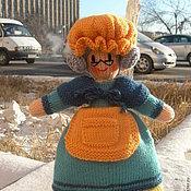 Куклы и игрушки ручной работы. Ярмарка Мастеров - ручная работа Кукла. Вязаная кукла-перевертыш из шерсти Бабушка/Внучка. Handmade.