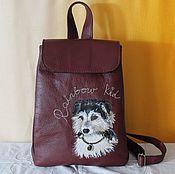 "Сумки и аксессуары handmade. Livemaster - original item Woman leather backpack ""Dear friend"". Handmade."