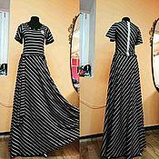 Одежда handmade. Livemaster - original item Long striped dress