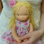 Вальдорфские куклы и звери ручной работы. Ярмарка Мастеров - ручная работа кукла вальдорфская розовое солнышко. Handmade.