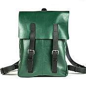 Сумки и аксессуары ручной работы. Ярмарка Мастеров - ручная работа Кожаный зеленый городской рюкзак. Handmade.