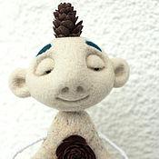"""Куклы и игрушки ручной работы. Ярмарка Мастеров - ручная работа войлочная игрушка """"Киш медитирующий"""". Handmade."""