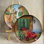 Посуда ручной работы. Ярмарка Мастеров - ручная работа Тарелки керамические. Handmade.
