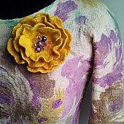 """Одежда ручной работы. Ярмарка Мастеров - ручная работа Блузка валяная на шелке """"Сиреневые розы"""". Handmade."""