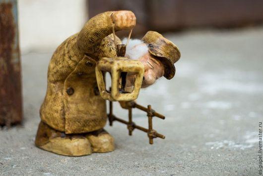 Коллекционные куклы ручной работы. Ярмарка Мастеров - ручная работа. Купить Кукла Фонарщик. Handmade. Авторская кукла, папье-маше