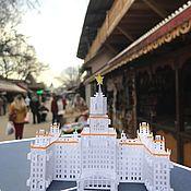 Сувениры и подарки handmade. Livemaster - original item 3D Map - MSU. Handmade.