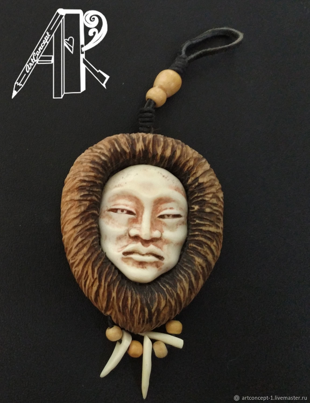 Cameo Bone And Wood Carving Carved Pendant Of A Shaman Talisman Amulet Zakazat Na Yarmarke Masterov J450jcom Podveska Ryazan