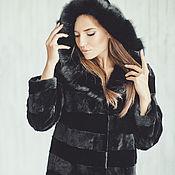 Одежда handmade. Livemaster - original item Beaver fur coat in black. Handmade.
