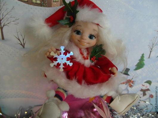 Коллекционные куклы ручной работы. Ярмарка Мастеров - ручная работа. Купить шарнирная кукла Лу. Handmade. Ярко-красный, bjd