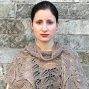 Аксессуары handmade. Livemaster - original item Pure wool beige shawl. Handmade.