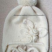 """Работы для детей, ручной работы. Ярмарка Мастеров - ручная работа Вязаная  шапочка для маленькой девочки """"Снежный сад"""". Handmade."""