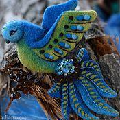"""Украшения ручной работы. Ярмарка Мастеров - ручная работа Брошь """"Синяя птица"""". Handmade."""