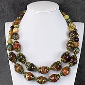 Украшения handmade. Livemaster - original item Necklace natural agate cut. Agate necklace. Handmade.