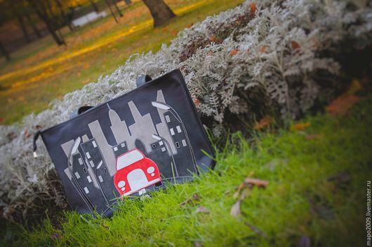 Женские сумки ручной работы. Ярмарка Мастеров - ручная работа. Купить Сумка Красное авто. Handmade. Тёмно-синий