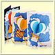 """Открытки на все случаи жизни ручной работы. Ярмарка Мастеров - ручная работа. Купить Открытки ручной работы """"Воздушный шар"""". Handmade."""