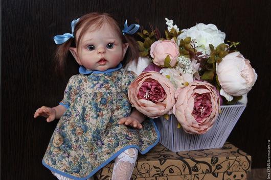 Куклы-младенцы и reborn ручной работы. Ярмарка Мастеров - ручная работа. Купить Эльфик Луна 2)). Handmade. Бежевый, мохер