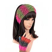 Аксессуары handmade. Livemaster - original item Headband mittens with a scythe, knitted on the hair section. Handmade.