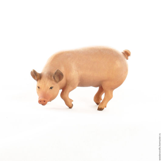 Статуэтки ручной работы. Ярмарка Мастеров - ручная работа. Купить Свинья из дерева. Handmade. Кремовый, свинка, дерево