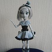 Куклы и игрушки ручной работы. Ярмарка Мастеров - ручная работа Комплект для Monster High по мотивам платья Кинозвезда. Handmade.