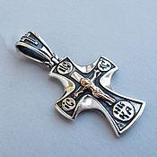 Украшения handmade. Livemaster - original item Cross for baptism of the child