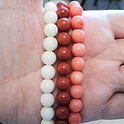Материалы для творчества handmade. Livemaster - original item Coral beads beads 9mm. Handmade.