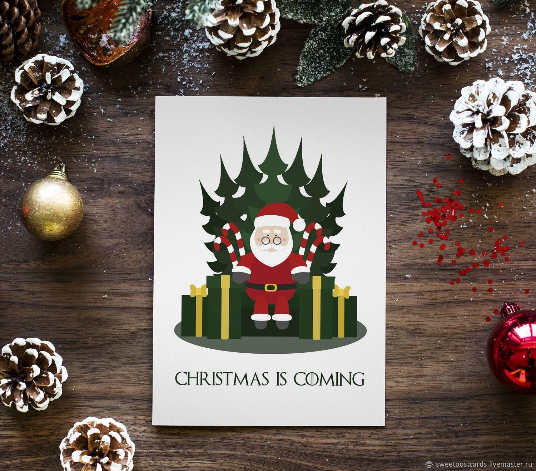Днем рождения, игра рождественская открытка