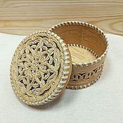 Посуда handmade. Livemaster - original item Box of birch bark carved. box for storing small things. Handmade.