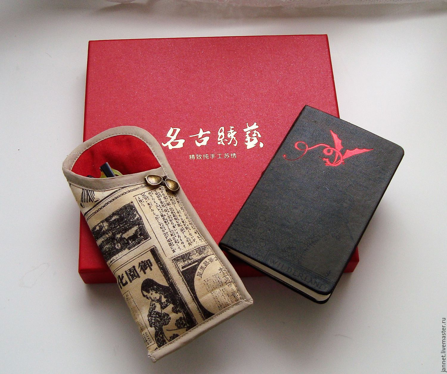DIARY of a GEISHA - the case of textile, Eyeglass case, Moscow,  Фото №1