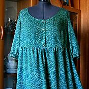 Одежда handmade. Livemaster - original item Green dress with a high waist. Handmade.