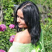 """Одежда ручной работы. Ярмарка Мастеров - ручная работа Пуловер """"Зеленый июнь"""". Handmade."""