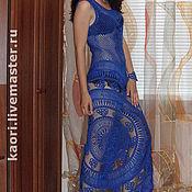 Одежда ручной работы. Ярмарка Мастеров - ручная работа Платье BLUE SILK. Handmade.