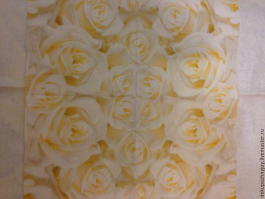 Зефирные розы -101 Декупажная радость