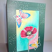 Открытки handmade. Livemaster - original item Batik postcard