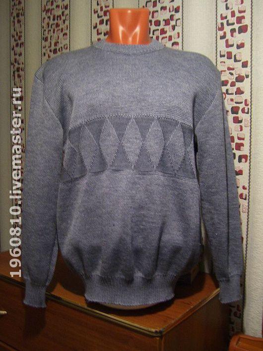 Для мужчин, ручной работы. Ярмарка Мастеров - ручная работа. Купить Мужской пуловер Ромб. Handmade. Пуловер, Машинное вязание