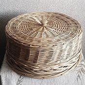 Для дома и интерьера ручной работы. Ярмарка Мастеров - ручная работа Тортовница / хлебница из лозы. Handmade.