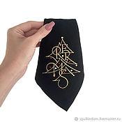 "Подарки к праздникам handmade. Livemaster - original item Салфетка с вышивкой и кристаллами Swarovski ""Merry christmas"". Handmade."