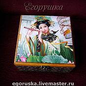 Для дома и интерьера handmade. Livemaster - original item Carton box for tea or needlework Kitayanochka. Handmade.