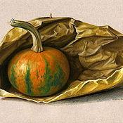 Картины и панно ручной работы. Ярмарка Мастеров - ручная работа Картина пастелью Тыква на семена. Handmade.