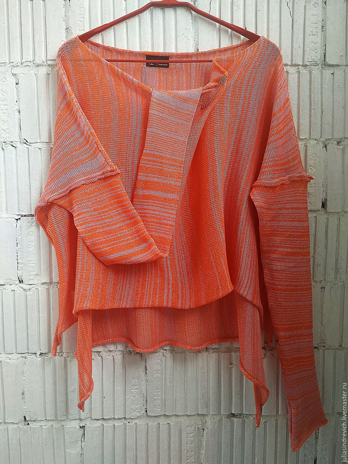 The summer composition of the yarn! KN_003l_oranzh-Astra Blouson