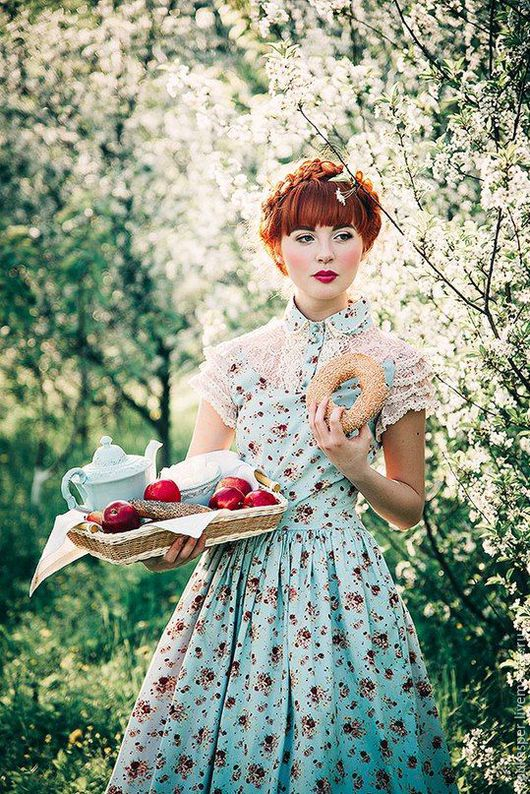 """Платья ручной работы. Ярмарка Мастеров - ручная работа. Купить Платье """" Цветущий сад"""". Handmade. Платье, платье из хлопка"""