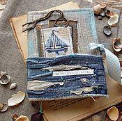 """Канцелярские товары ручной работы. Ярмарка Мастеров - ручная работа Блокнот """"AT THE EDGE OF THE SEA"""". Handmade."""