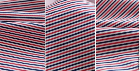 """Шитье ручной работы. Ярмарка Мастеров - ручная работа. Купить Плательный хлопок """"Мелкая полоска"""". Handmade. Комбинированный, модное платье"""