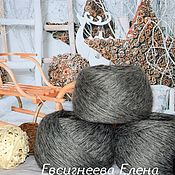 Материалы для творчества handmade. Livemaster - original item Yarn: Grey down yarn made of natural goat down. Handmade.