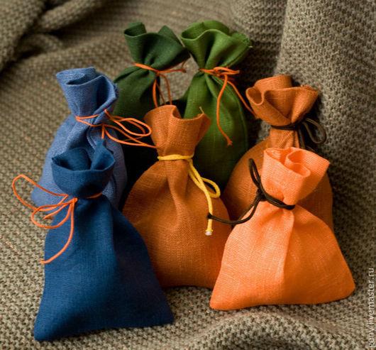 Упаковка ручной работы. Ярмарка Мастеров - ручная работа. Купить Мешочек упаковочный № 3. Handmade. Упаковка, цветной лен